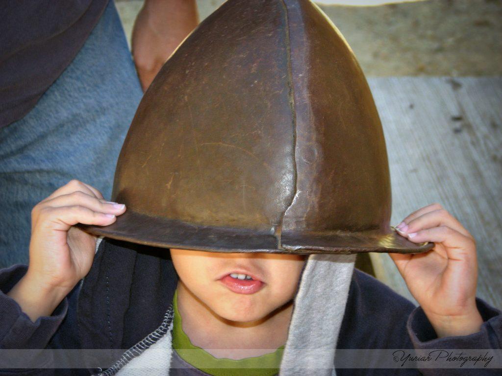 BigBoy gets lost in a helmet