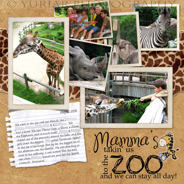 Mamma's taking us to the zoo!