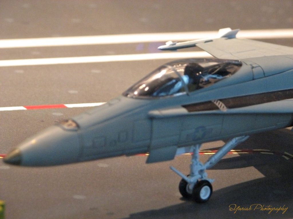Model Fighter Jet on the deck of a carrier